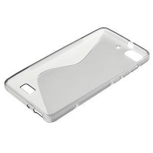 S-line gelový obal na mobil Honor 4C - šedý - 3
