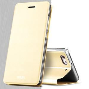 Vintage stylové pouzdro na mobil Honor 4C - zlaté - 3