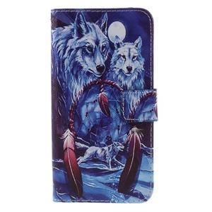 PU kožené pouzdro na mobil Honor 5X - vlci - 3