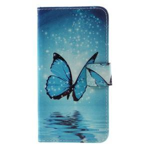 PU kožené pouzdro na mobil Honor 5X - motýl - 3
