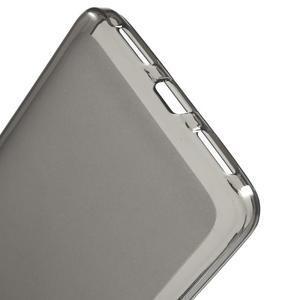 Matný gelový obal na mobil Honor 5X - šedý - 3