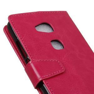 Horse peněženkové koženkové pouzdro na Huawei Honor 5X - rose - 3