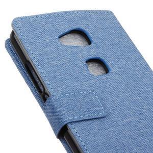 Textilní/koženkové pouzdro na Honor 5X - světlemodré - 3