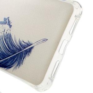 Drop gelový obal na Huawei Honor 5X - modré peříčko - 3