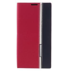 Klopové PU kožené pouzdro na Huawei Honor 5X - červené - 3