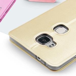 Vintage pouzdro na mobil Honor 5X - zlaté - 3
