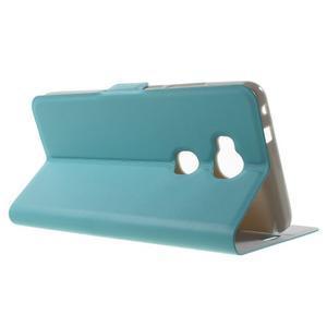 Peněženkové PU kožené pouzdro na mobil Honor 5X - modré - 3