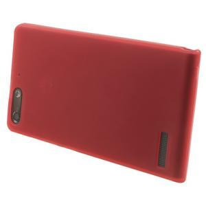 Matné gelové pouzdro na Huawei Ascend G6 - červené - 3