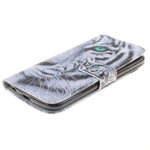 Peněženkové pouzdro na mobil LG K10 - bílý tygr - 3