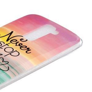 Fony gelový obal na mobil LG K10 - nepřestávej snít - 3