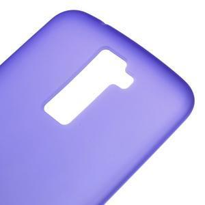 Matný gelový kryt na LG K10 - fialový - 3