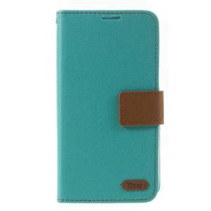 Style PU kožené pouzdro pro LG K10 - zelenomodré - 3