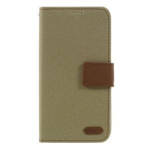 Style PU kožené pouzdro pro LG K10 - khaki - 3
