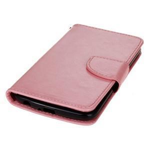 Horse PU kožené pouzdro na LG K10 - růžové - 3