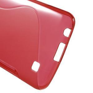 S-line gelový obal na mobil LG K10 - červený - 3