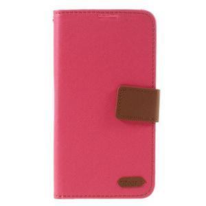 Style PU kožené pouzdro pro LG K10 - rose - 3