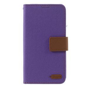 Style PU kožené pouzdro pro LG K10 - fialové - 3