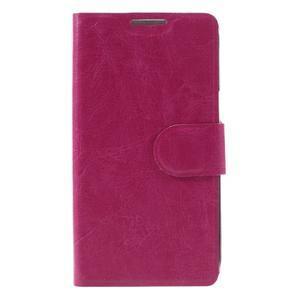 Horse PU kožené pouzdro na mobil LG K4 - rose - 3