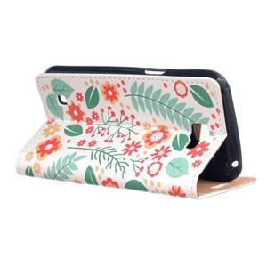 Style peněženkové pouzdro na LG K4 - květinová koláž - 3