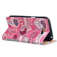 Style peněženkové pouzdro na LG K4 - srdce - 3/5