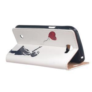 Style peněženkové pouzdro na LG K4 - letící srdce - 3
