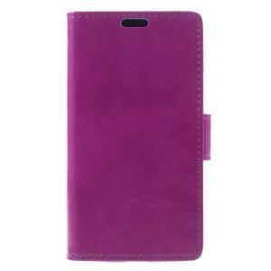 Fialové peněženkové pouzdro na LG K4 - 3
