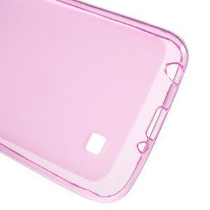 Matný gelový obal na mobil LG K4 - růžové - 3