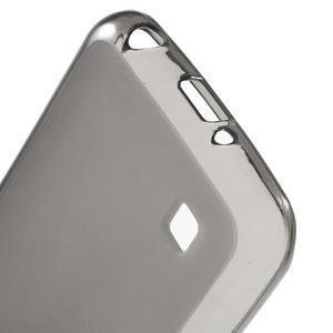 Matný gelový obal na mobil LG K4 - šedé - 3