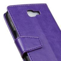 Leat peněženkové pouzdro na LG K4 - fialové - 3/6
