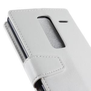 Sitt PU kožené pouzdro na mobil LG Zero - bílé - 3