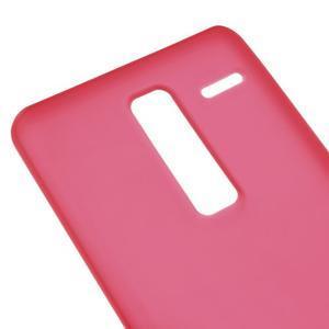 Matný gelový obal na mobil LG Zero - červený - 3