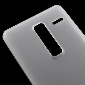 Matný gelový obal na mobil LG Zero - bílý - 3