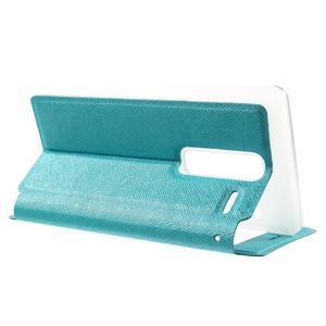 Cross peněženkové pouzdro s okýnkem na LG Zero - modré - 3