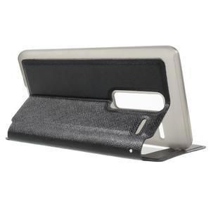 Cross peněženkové pouzdro s okýnkem na LG Zero - černé - 3