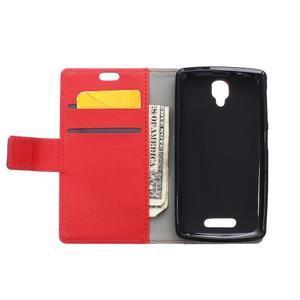 Wallet pouzdro na mobil Lenovo A1000 - červené - 3