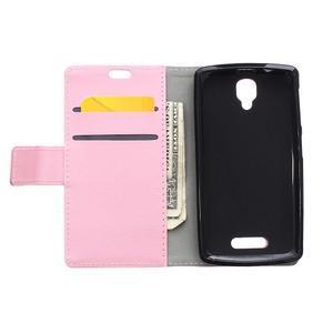 Wallet pouzdro na mobil Lenovo A1000 - růžové - 3
