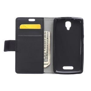 Wallet pouzdro na mobil Lenovo A1000 - černé - 3