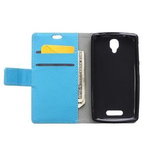 Wallet pouzdro na mobil Lenovo A1000 - modré - 3