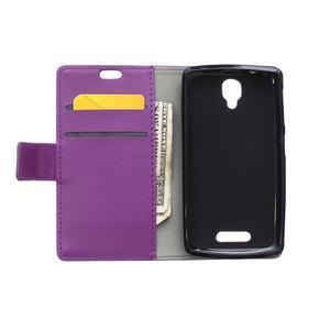Wallet pouzdro na mobil Lenovo A1000 - fialové - 3