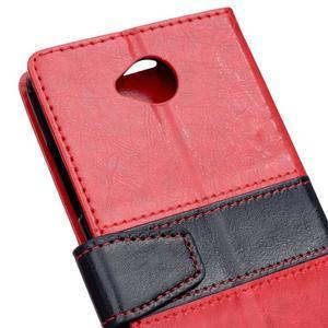 Flag peněnžekové pouzdro pro Microsoft Lumia 650 - červené - 3