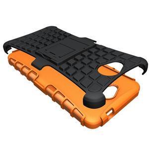 Outdoor odolný obal na mobil Microsoft Lumia 650 - oranžový - 3