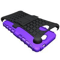 Outdoor odolný obal na mobil Microsoft Lumia 650 - fialový - 3/5