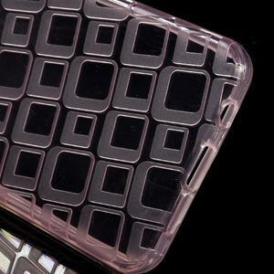 Square gelový obal na mobil Samsung Galaxy A3 (2016) - růžový - 3