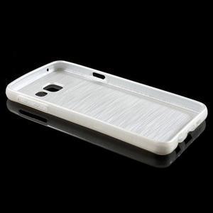 Gelový obal s motivem broušení na Samsung Galaxy A3 (2016) - bílý - 3