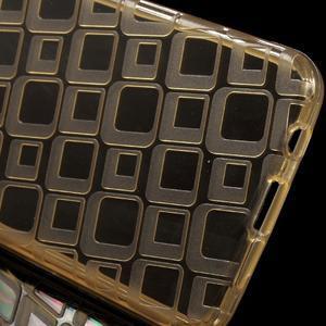 Square gelový obal na mobil Samsung Galaxy A3 (2016) - zlatý - 3