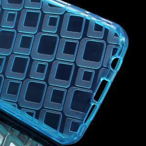 Square gelový obal na mobil Samsung Galaxy A3 (2016) - modrý - 3
