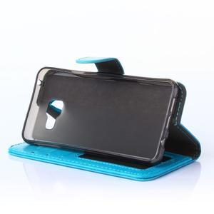 Wallet pouzdro na mobil Samsung Galaxy A3 (2016) - modré - 3
