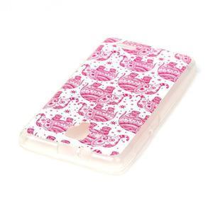 Gelový obal na mobil Lenovo A536 - růžoví sloni - 3
