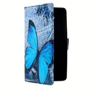 Peněženkové pouzdro na mobil Lenovo A536 - modrý motýl - 3