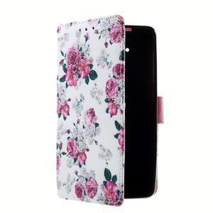 Peněženkové pouzdro na mobil Lenovo A536 - květiny - 3